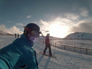 4 Monday 26th Jan - Great day snowbaording, slope...
