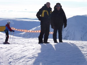 1 Two Sages at top of new Cairnwell Chairlift.  S...