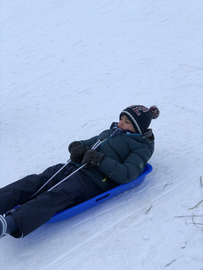 3 Sledging today