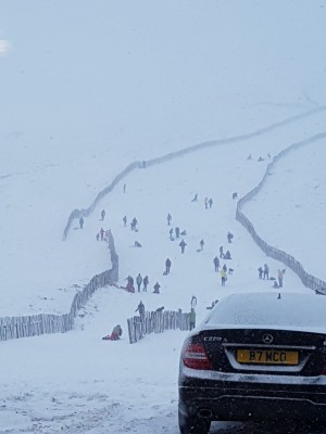 Glenshee sledging and boarding fun 9 Jan 18 13:40