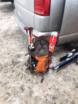 1 Left rucksack in car park