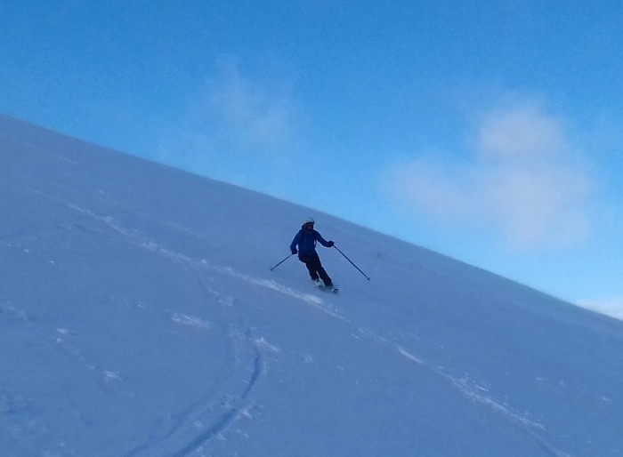 1 Off the side of the piste in corrie fionn