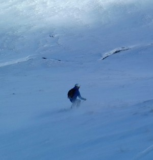 2 Off the side of the piste in corrie fionn