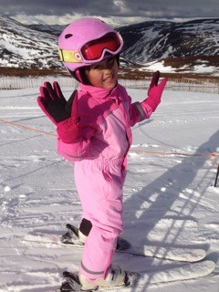 2 First time skiing @ five years old.