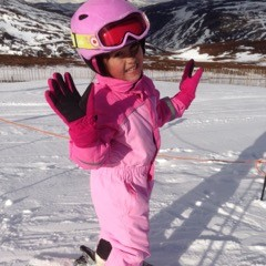 3 First time skiing @ five years old.