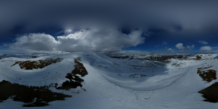 4 Drone 360 and panoramic views from Glas Maol  S...
